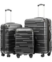 COOLIFE Luggage Small Suitcase Size Only. 20 Inch Grey. BRAND NEW WITH TAGS.