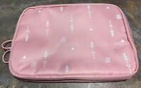 D POCKET Pink Travel Wallet Clutch Carrying Pouch Two Pocket