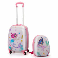 Kids Luggage with Wheels for Girls 12quot; Toddler Backpack amp; 16quot; Travel Suitcase