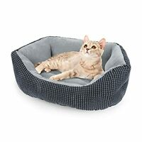 Calming Pet Bed For For Small Dogs Cats Round Cushion Sleeping Soft Washable