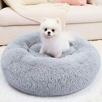Dog Bed For Small amp; Cat Calming Comfy Self Warming Round Fluffy Faux Fur 20x20