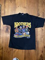 Vintage Brothers To The End Biker motorcycle club T Shirt Size army 2000 M USA