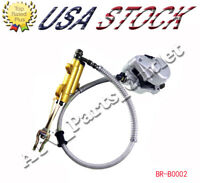 Rear disc Brake Assembly Master cylinder caliper ATV Quad 150cc 200 250cc Taotao