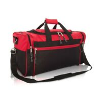 21quot; Blank Duffle Bag Sports Travel Luggage Gym Gear Bag in Red