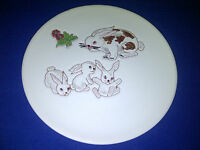 Invento Italian Pottery Rabbit & Three Bunnies Plate 140 INVENTO Made In Italy