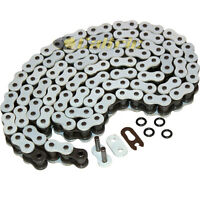525 X 120 Links Motorcycle Atv White O-Ring Drive Chain 525-Pitch 120-L