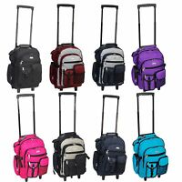 Everest Deluxe Wheel Backpack Rolling 18quot; Carry on Travel Luggage Travel Bag