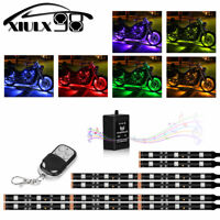 6pcs Music Control Flexible Strip Motorcycle ATV 36 LED Neon Accent Lighting Kit