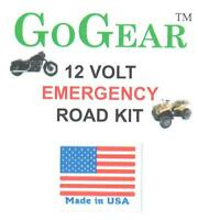 Motorcycle, ATV or Snowmobile 12 volt Power Outlet & Jumper Cables EMERGENCY KIT