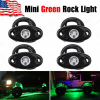 YITAMOTOR 4X Green LED Rock Lights Offroad Music for ATV SUV Boat