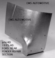 Ford Car Rear Fender Repair Section / Patch Panel Right 1935-1940 #40R EMS