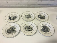 Antique Utzchneider & Co Sarreguemines France Set of 6 Transfer Plates Months