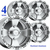 FOUR 14x8 14x7 4/110 Aluminum ATV RIMs WHEELs for Suzuki King Quad 500 700 IRS