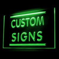 Your Text Personalized Custom Made Customize Display LED Light Sign 55cm X 30cm
