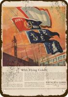1942 BAUSCH & LOMB Vintage Appearance Replica Metal Sign - ARMY & NAVY FLAG