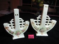 WELLER ROMA PAIR TRIPLE CANDLE HOLDERS 7 .75quot;H 6.75quot;H CIRCA 1920 XLNT COND.