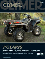 CLYMER Repair Manual for Polaris Sportsman 600 700 and 800 Series 2002 2010