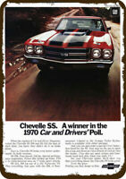 1970 CHEVY CHEVELLE SS 396 Sports Car Vintage Look REPLICA METAL SIGN  CHEVROLET