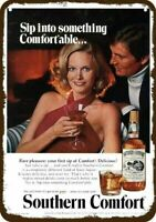 1977 SOUTHERN COMFORT WHISKY amp; SEXY WOMAN Vintage Look REPLICA METAL SIGN