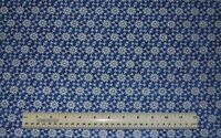 1 2 yard 100% cotton fabric Glitter Snowflakes blue winter cold snow holiday sew