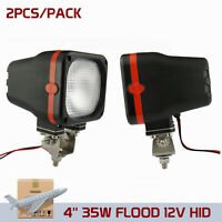2X 35W 12V Flood Beam Xenon HID Work Light ATV Truck 4WD Off Road Boat Vehicle