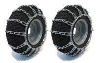 PAIR 2 Link TIRE CHAINS 14x5.5x6 fit many Can-Am Quest Outlander Renegade DS ATV