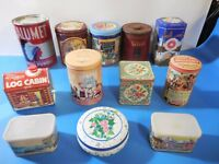 Collector Tins Calumet, Nestle, Velvet Tobacco, Tootsie Roll and More! Lot of 12