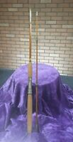 Old Montague Split Cane Bamboo Hexagon Antique Fishing Pole Fly Bass Display Rod
