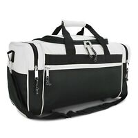 21quot; Blank Duffle Bag Sports Travel Luggage Gym Gear Bag in White