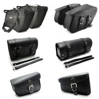Leather Saddle Bags Saddlebag Tool Pouch Tank Bag for Yamaha BMW ATV Motorcycle