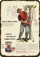 1954 HAVOLINE OIL TEXACO Vintage Look REPLICA METAL SIGN GOLF PRO SAM SNEAD