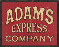 ADAMS EXPRESS COMPANY ADVERTISING METAL SIGN