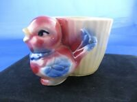 Vintage Shawnee Chick Planter, Red & Blue Bird USA 502 Planter, Perfect