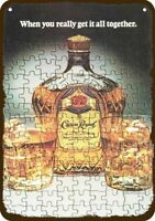 1981 CROWN ROYAL Whisky Puzzle Vintage Look REPLICA METAL SIGN NOT ACTUAL WHISKY