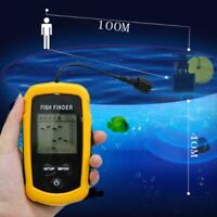 Portable LCD Fish Finder Ultrasonic Sonar Sensor Fishfinder Alarm Transducer HM