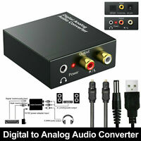 Optical Coaxial Toslink Digital to Analog Audio Converter Adapter RCA 3.5mm L R $9.99