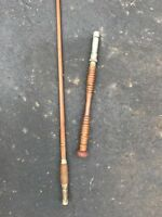 Bamboo Or Wood Offshore Fishing Rod Pole  Antique 9ft 3in Removable Wood Handle