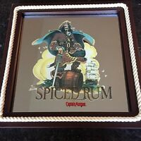CAPTAIN MORGAN SPICED RUM MIRROR MAN CAVE ART WALL/STAND COLLECTABLE PLAQUE12X12