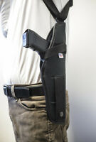 Walther P99 & PPQ | Vertical Shoulder Holster w/ Double Mag Pouch. MADE IN USA