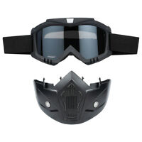Off-road Face Mask Goggles Removable Motocross ATV Anti Dust Wind UV Mask Goggle