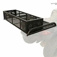 ATV Convertible Rear Drop Rack Basket 3-in-1 System Universal Fit Black NEW