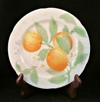 Vintage St. Clement Plate-French Majolica Pottery-Fruit-Oranges-8.5