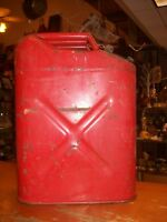 Vintage Military USMC Jerry Blitz Fuel Gas Can Jeep Red Metal  20-5-69