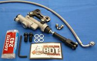 HONDA TRX250R TRX 250R BDT REAR BRAKE MASTER CYLINDER KIT BLACK NEW LINES BANJO
