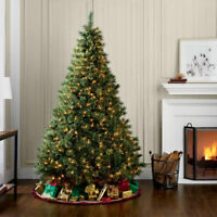 7 Ft Christmas Tree Artificial PVC Indoor Decoration w/ 600 Lights Stand Green