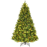 7.5Ft Pre-Lit Artificial Christmas Tree Hinged with 540 LED Lights