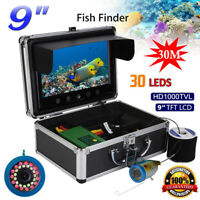 Fish Underwater Camera 9'' 30M 3000TVL Finder HD Color Monitor Kits for Fishing