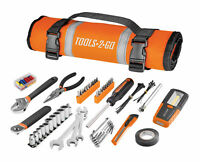 83 Piece Tools-2-Go Tool Set with Roll-Up Pouch Motorcycle, Auto, ATV - 240119