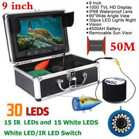 9'' 1000TVL LCD Underwater Fish Finder Sonar Ice/Sea/River Fishing Camera 50M