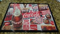Authentic Coca Cola The Real Thing Glued and Framed Jigsaw Puzzle